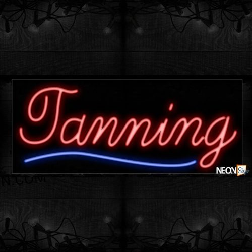 Image of Tanning With Underline Curve Neon Sign