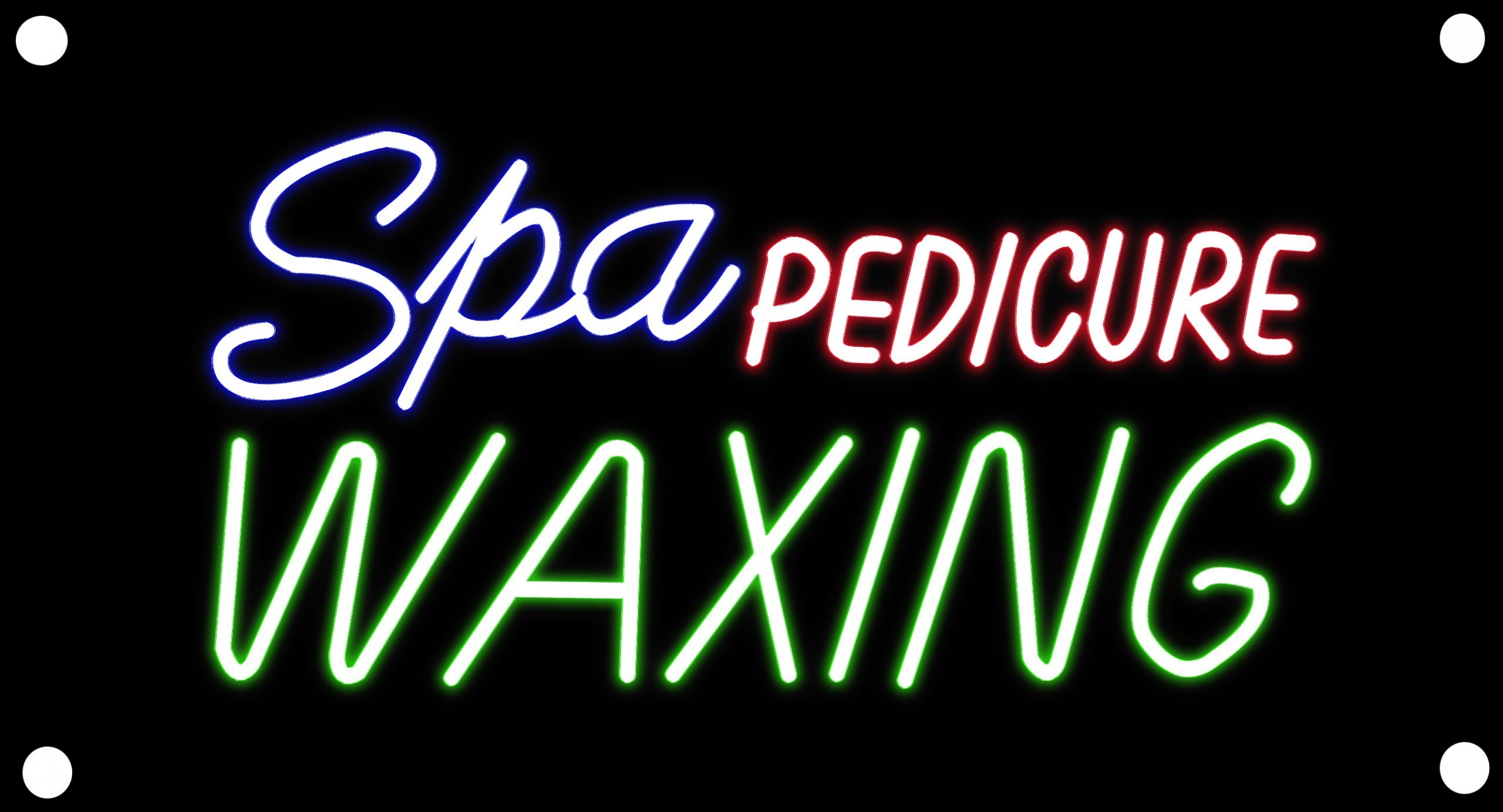 Image of Spa Pedicure Waxing With Border Neon Sign