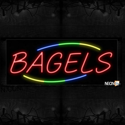 Image of Red Bagels Neon Sign