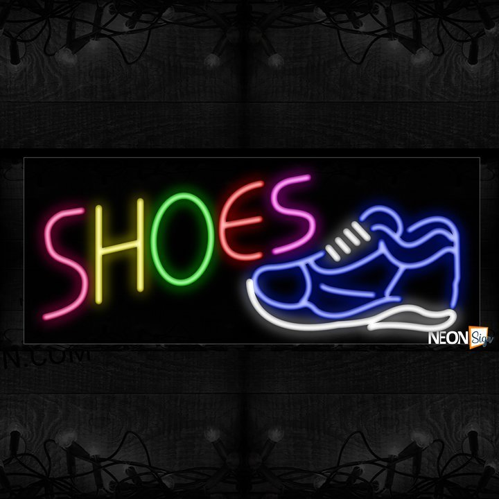 Image of Shoe With Shoe Logo Sign Neon Sign