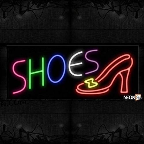 Image of Colorful Shoe With stiletto Neon Sign