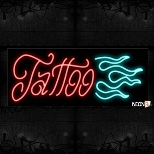 Image of Tattoo With Logo Neon Sign