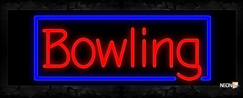 Image of Bowling With Border Neon Sign