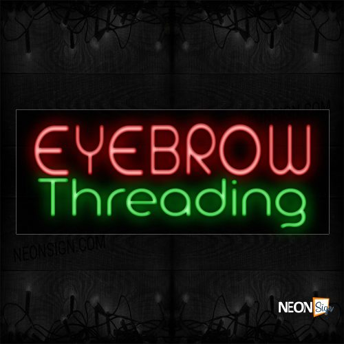 Image of Eyebrow Threading Neon Sign