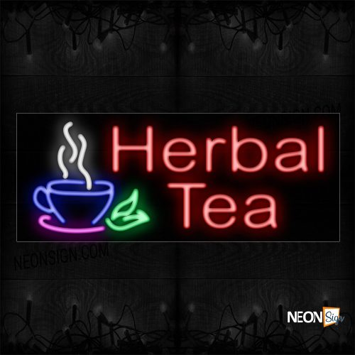 Image of Herbal Tea With Cup Neon Sign