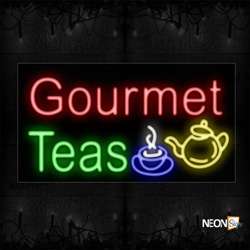Image of Gourmet Teas And Logo Neon Sign