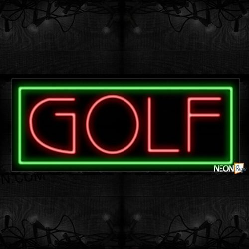 Image of Golf With Border Neon Sign