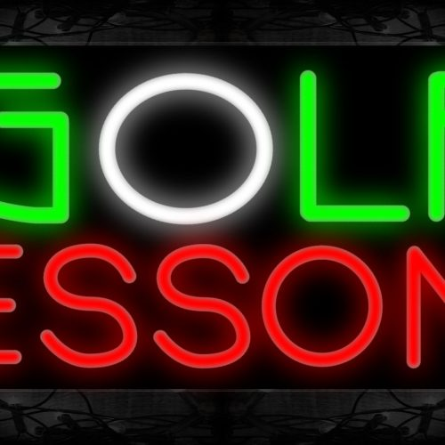 Image of Golf Lessons Neon Sign