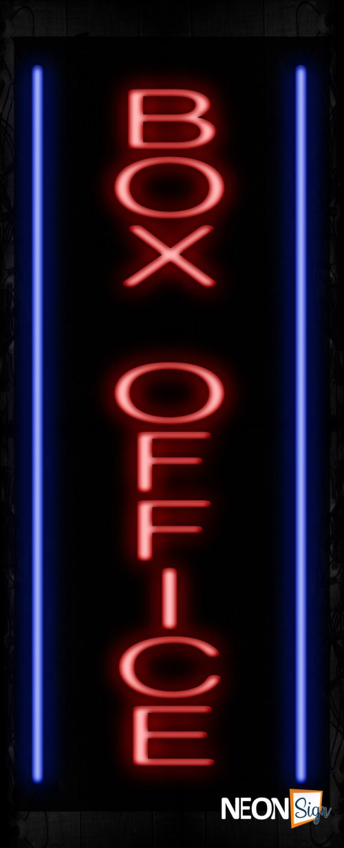 Image of Box Office With Vertical borderline Neon Sign