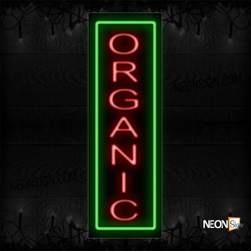 Image of Organic With Green Border Neon Sign
