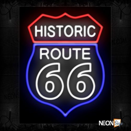Image of Historic Route 66 With Logo Sign Neon Sign