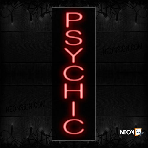 Image of 12283 Psychic Neon Sign_8x24 Black Backing