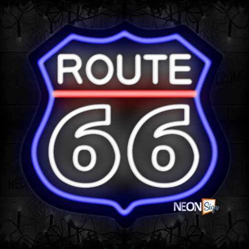 Image of Route 66 With Logo Neon Sign