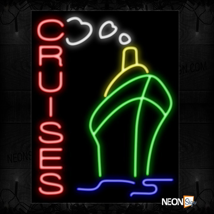Image of Cruise In Red With Logo Neon Sign