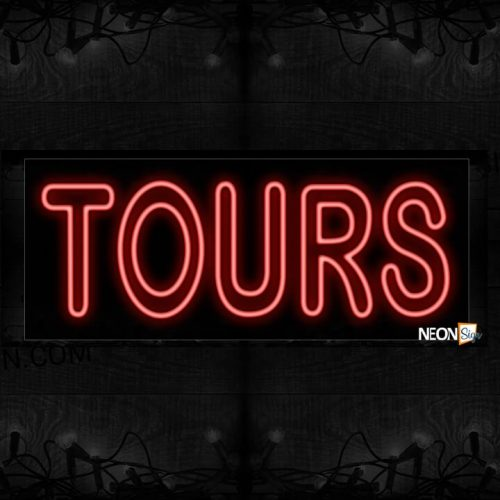 Image of Double Stroke Tours In Red Neon Sign
