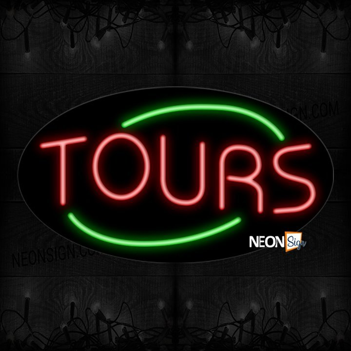 Image of Tours With Arc Border Neon Sign