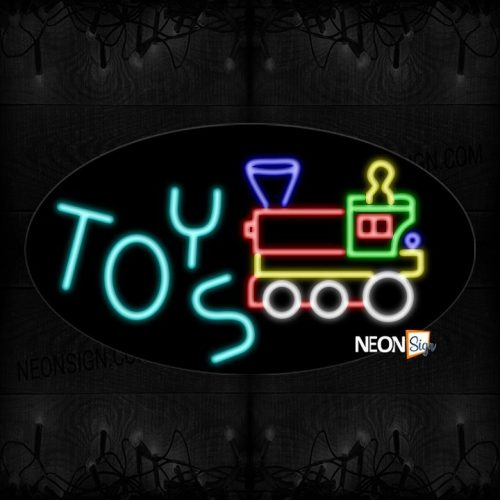 Image of Toys With Train Logo Neon Sign