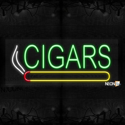 Image of Cigars in green with logo LED Flex