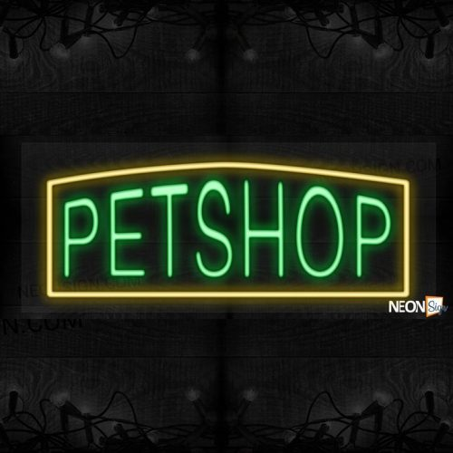 Image of Pet Shop with yellow border LED Flex