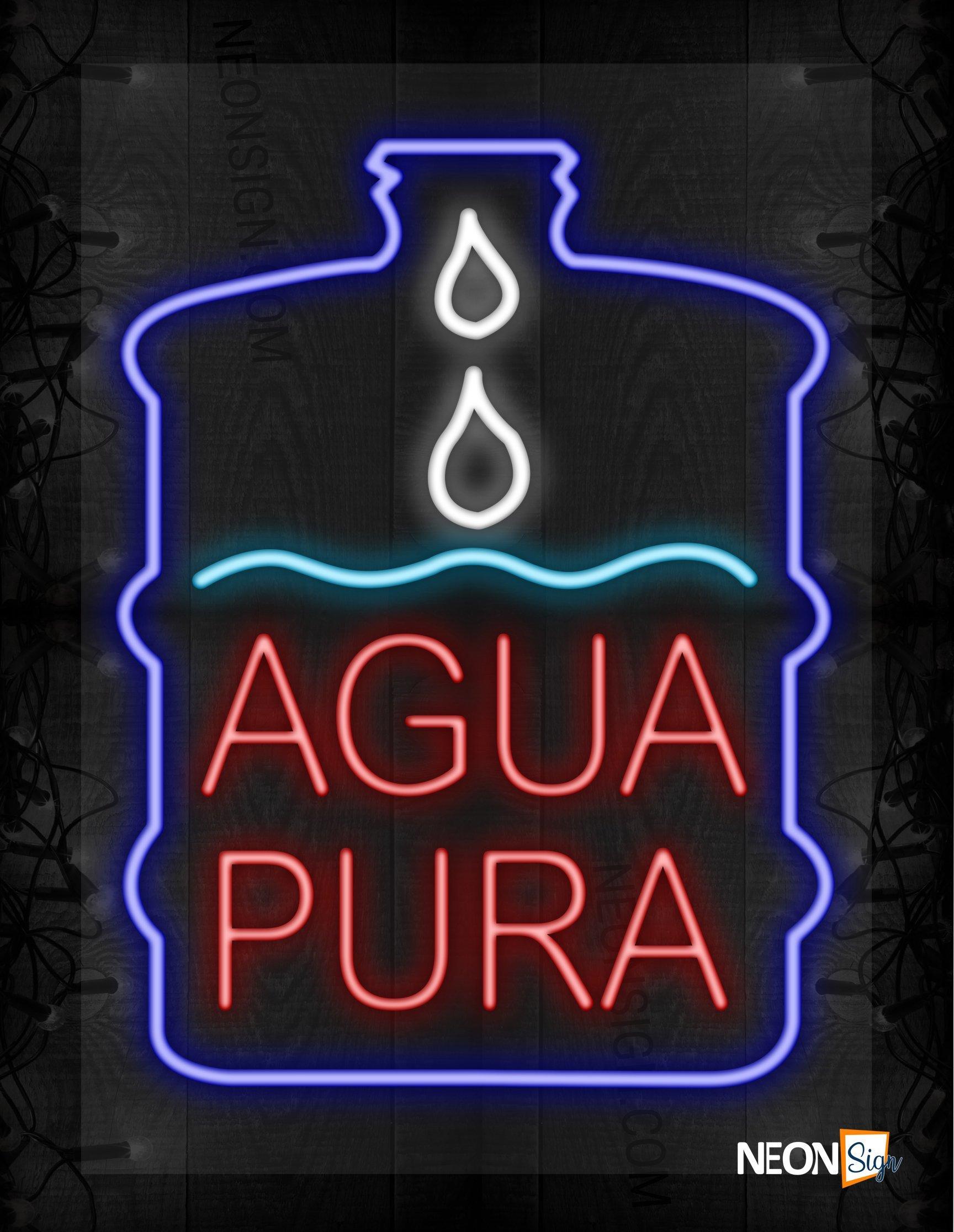 Image of Bottled Agua Pura LED Flex