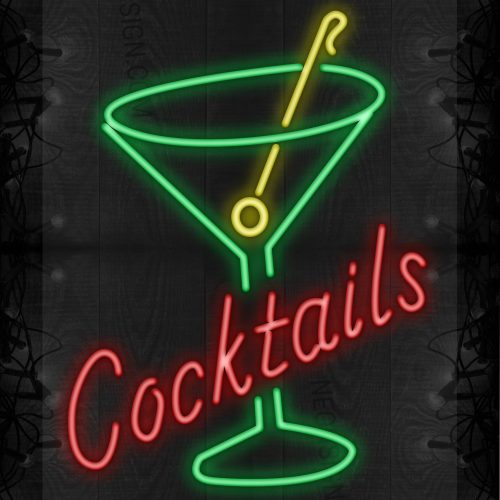 Image of Cocktails and glass wine LED Flex