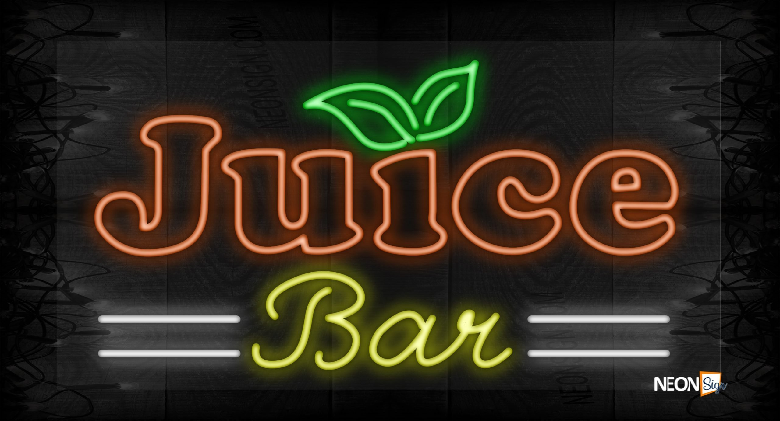 Image of Juice Bar with 2 white lines LED Flex