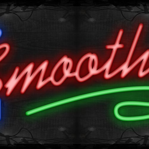 Image of Smoothies in red with green line LED Flex