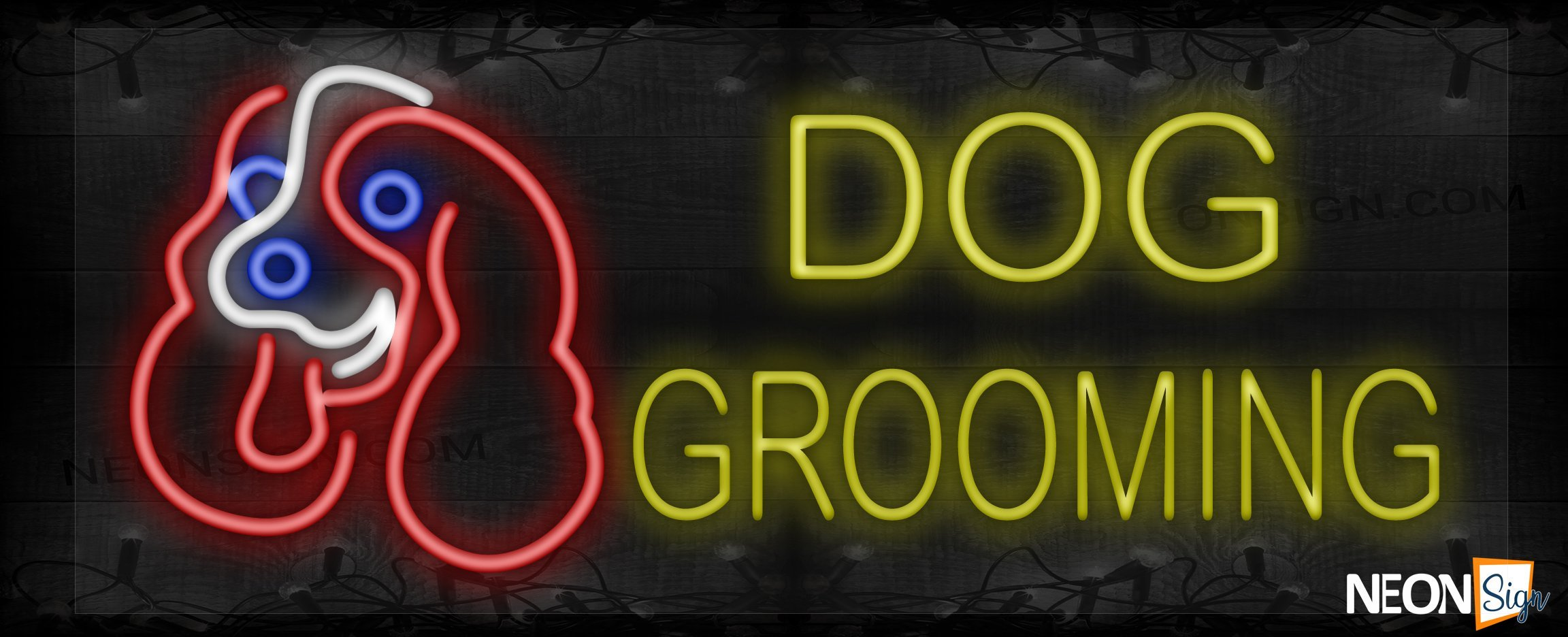 Image of Dog Grooming with logo LED Flex