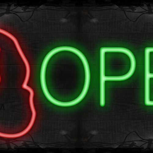 Image of Open with dog logo LED Flex