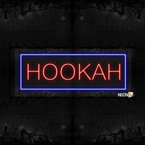 Image of Hookah with blue border LED Flex