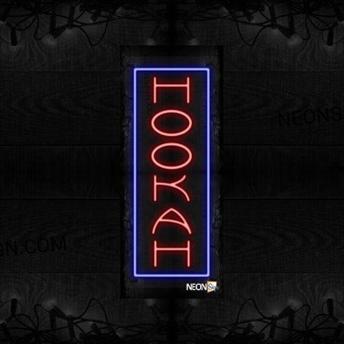 Image of Hookah with blue border (Vertical) LED Flex