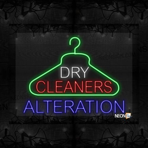 Image of Dry Cleanerss Alteration with hanger logo LED Flex