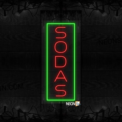 Image of Vertical Sodas with Green Border LED Flex