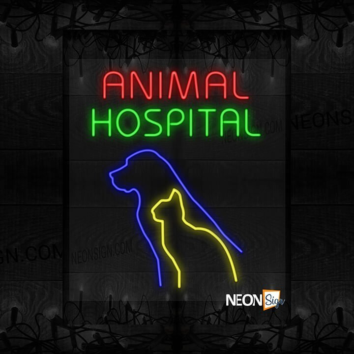 Image of Animal Hospital with Cat and Dog LED Flex