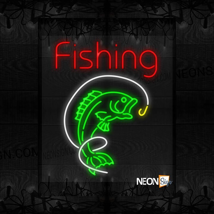 Image of Fishing with Fish and Hook LED Flex