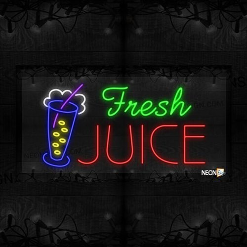 Image of Fresh Juice with a Glass of Juice LED Flex