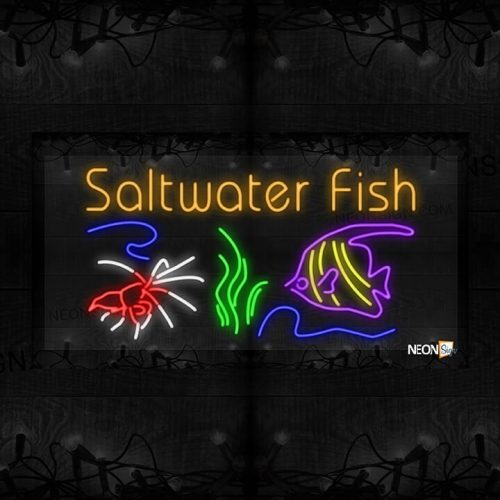 Image of Saltwater Fish with Fish, Seaweed and Crab LED Flex