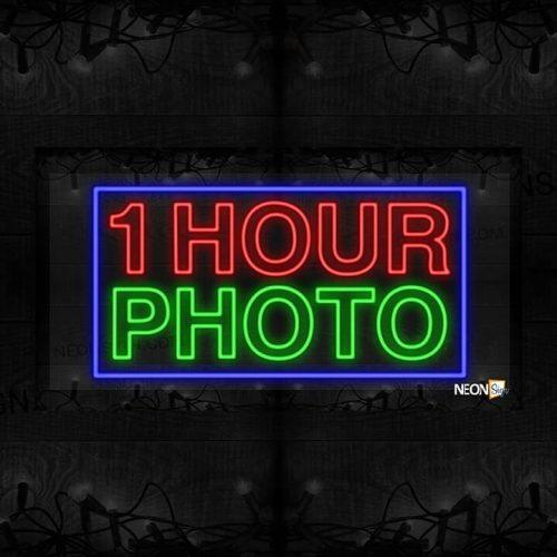 Image of 1 Hour Photo with Blue Border LED Flex