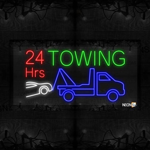 Image of 24 Hours Towing with Tow Truck LED Flex