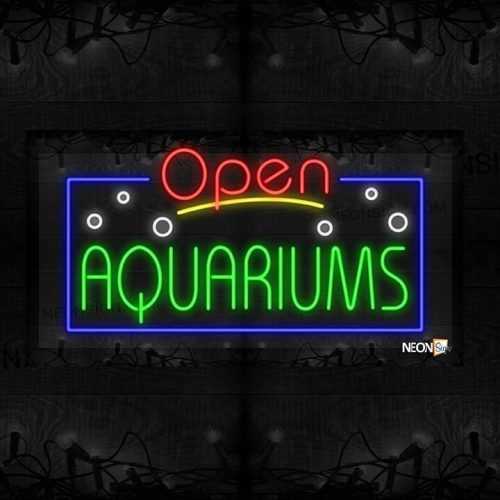Image of Open Aquariums with White Bubble and Blue Border LED Flex