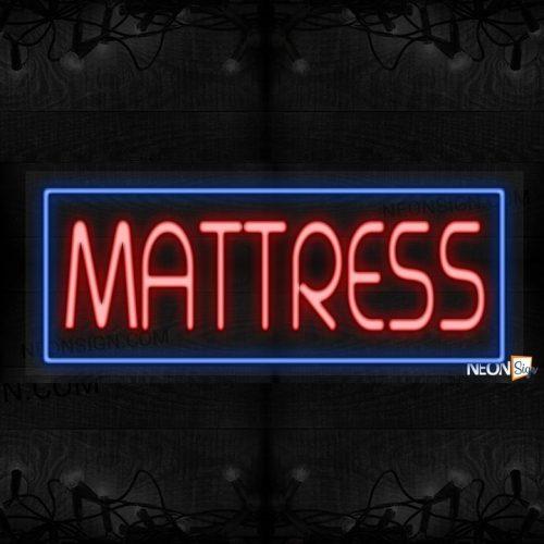 Image of Mattress with blue border LED Flex